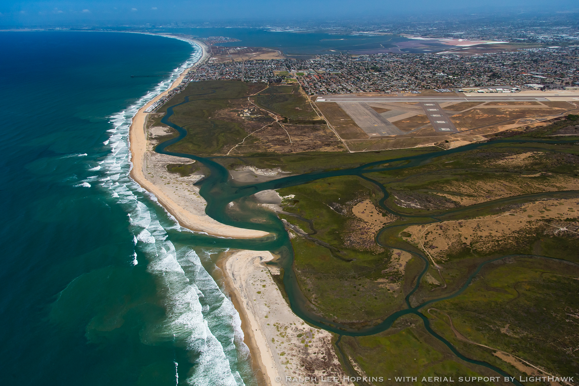 Tijuana River, US Border, Looking toward Tijuana, United States-Mexico Border, San Diego, California