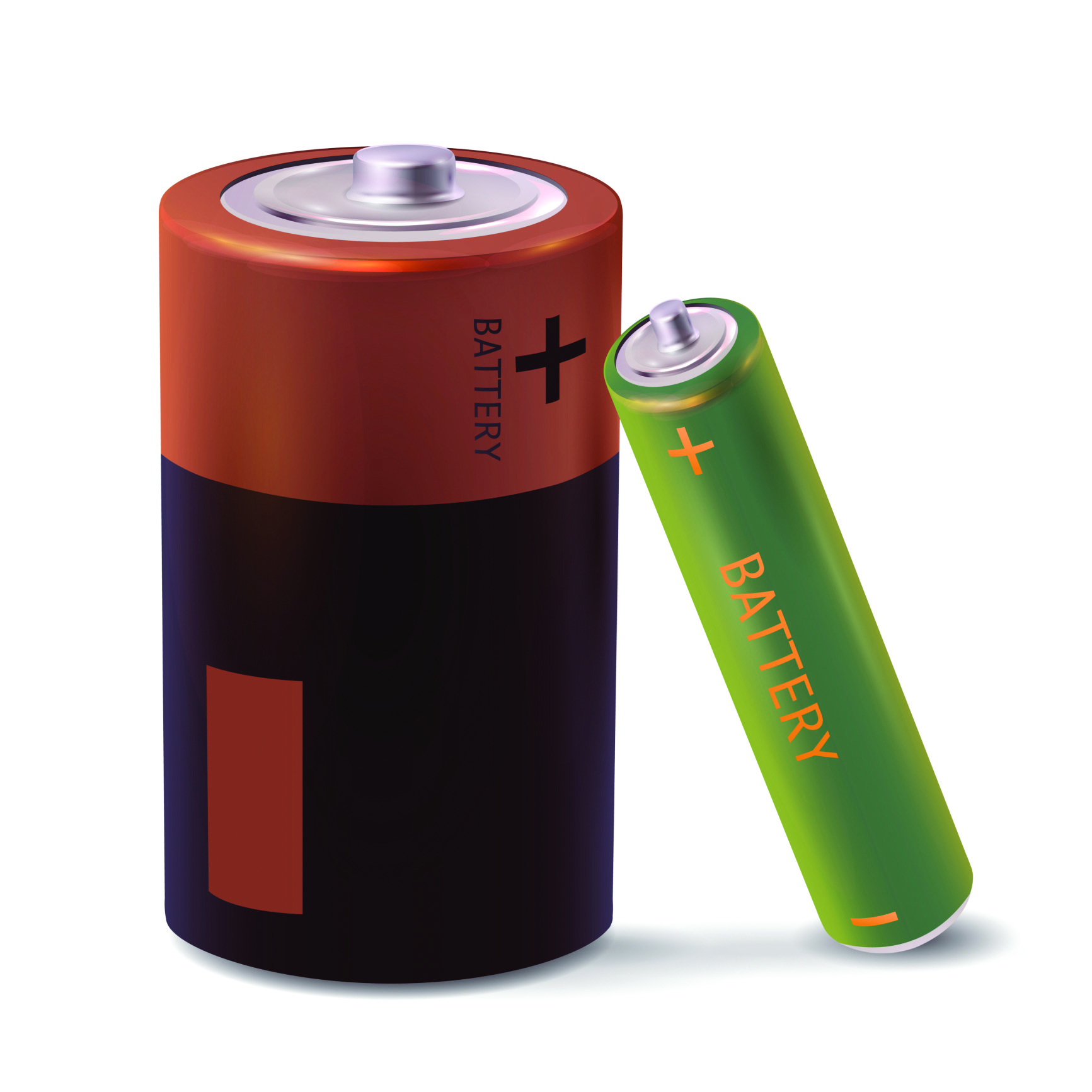 Illustration of two batteries