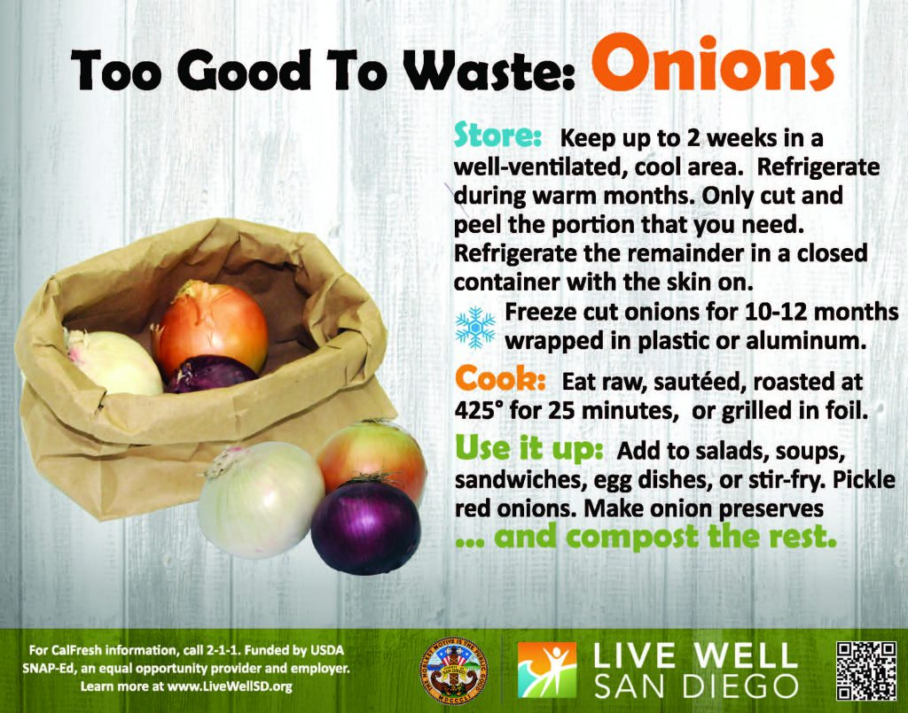 Help prevent food waste by properly storing, cooking and using your ingredients!