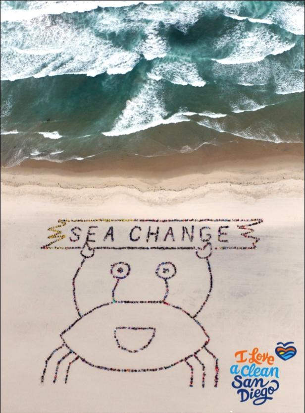 2016 kids ocean day aerial view