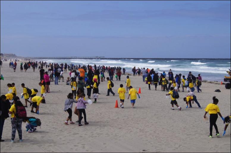 2016 kids ocean day volunteers at beach
