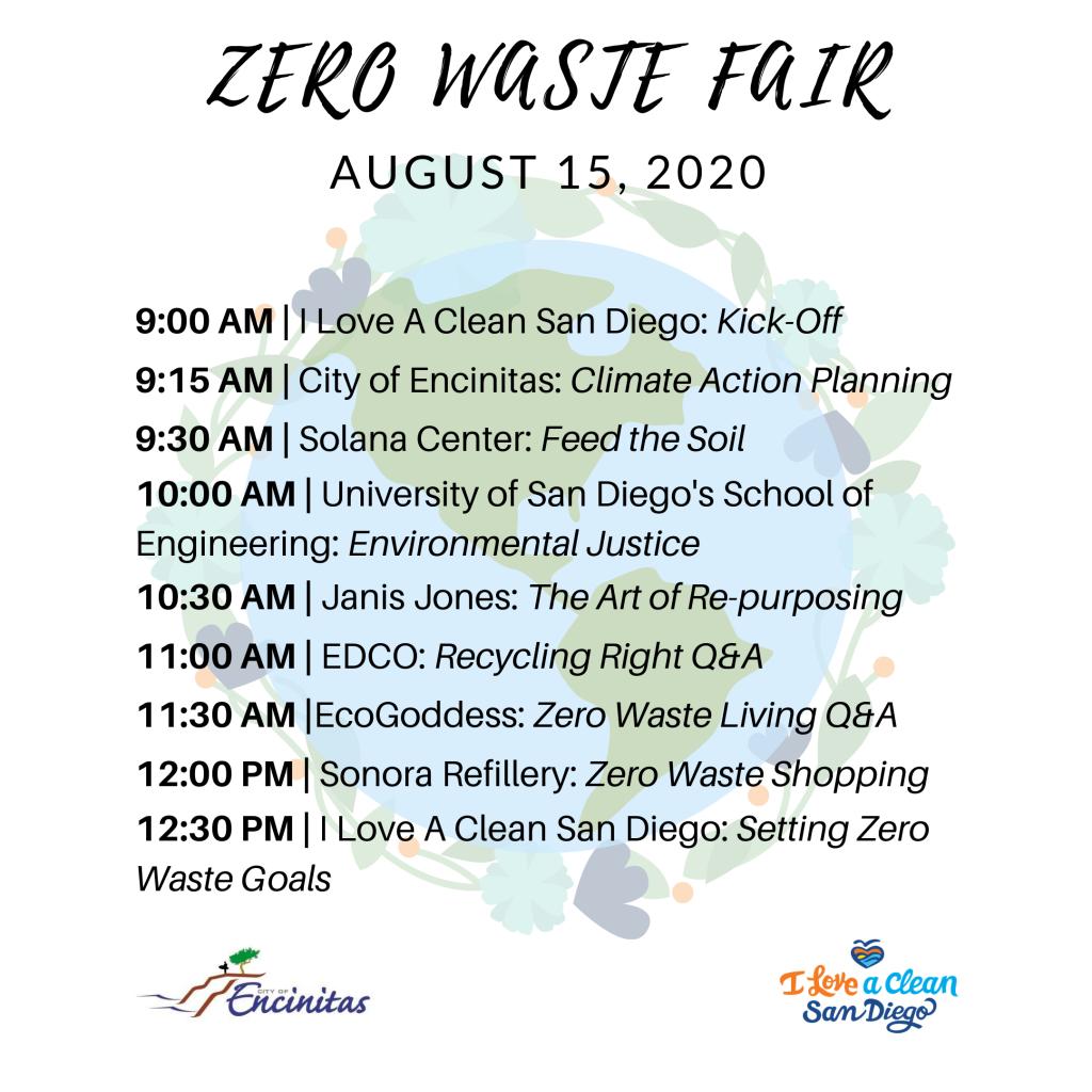 Zero Waste Fair 2020 Schedule