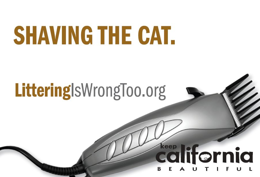 Shaving the Cat. Littering is Wrong Too.