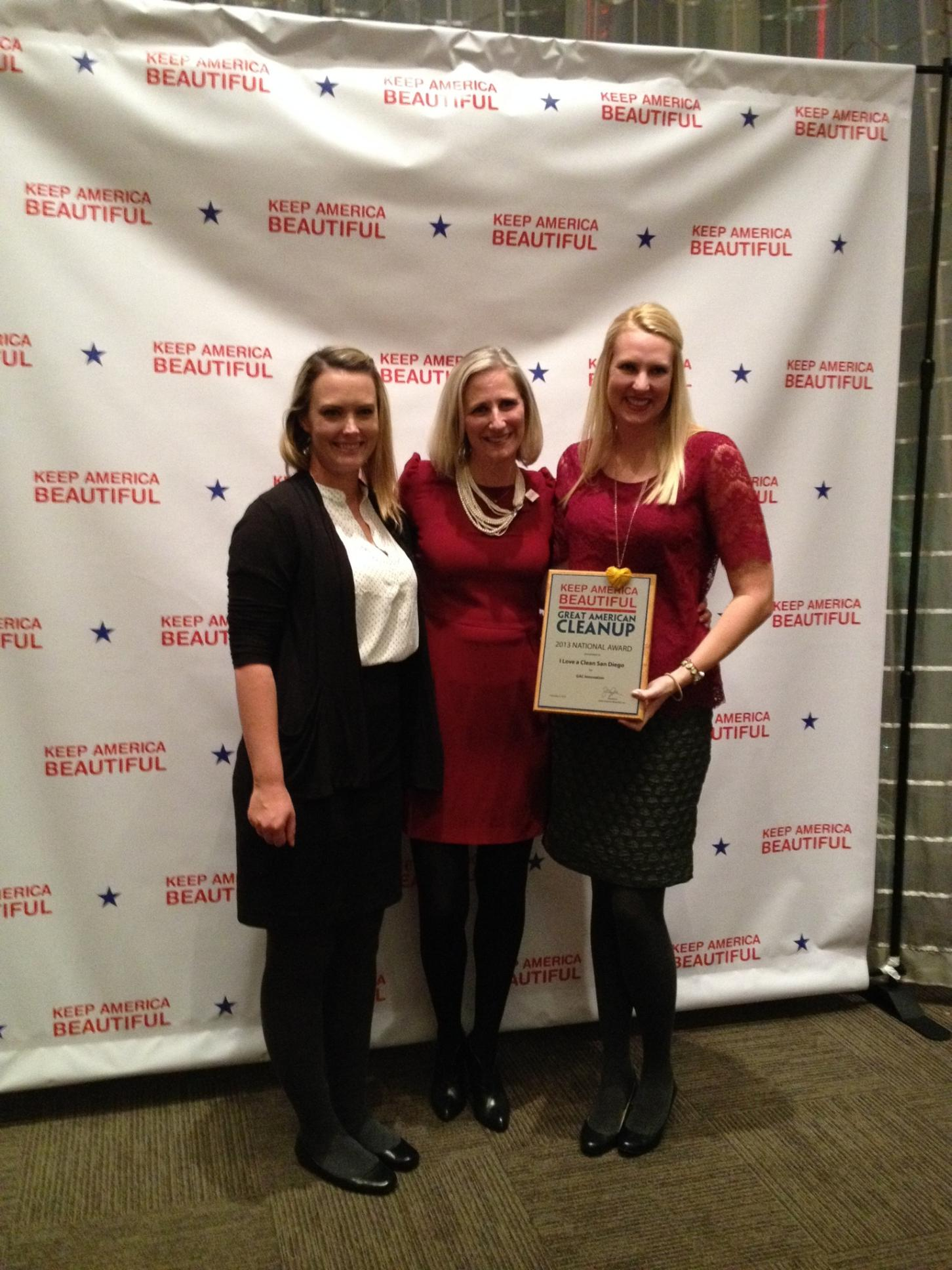 Here we are accepting the award!
