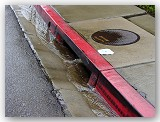 Rain flows into storm drains and then oceans, bringing with it any debris