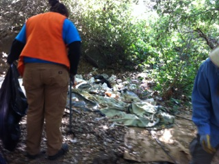 In 2013, Jon and his team cleaned up 5,000 pounds of trash from Alpine Creek