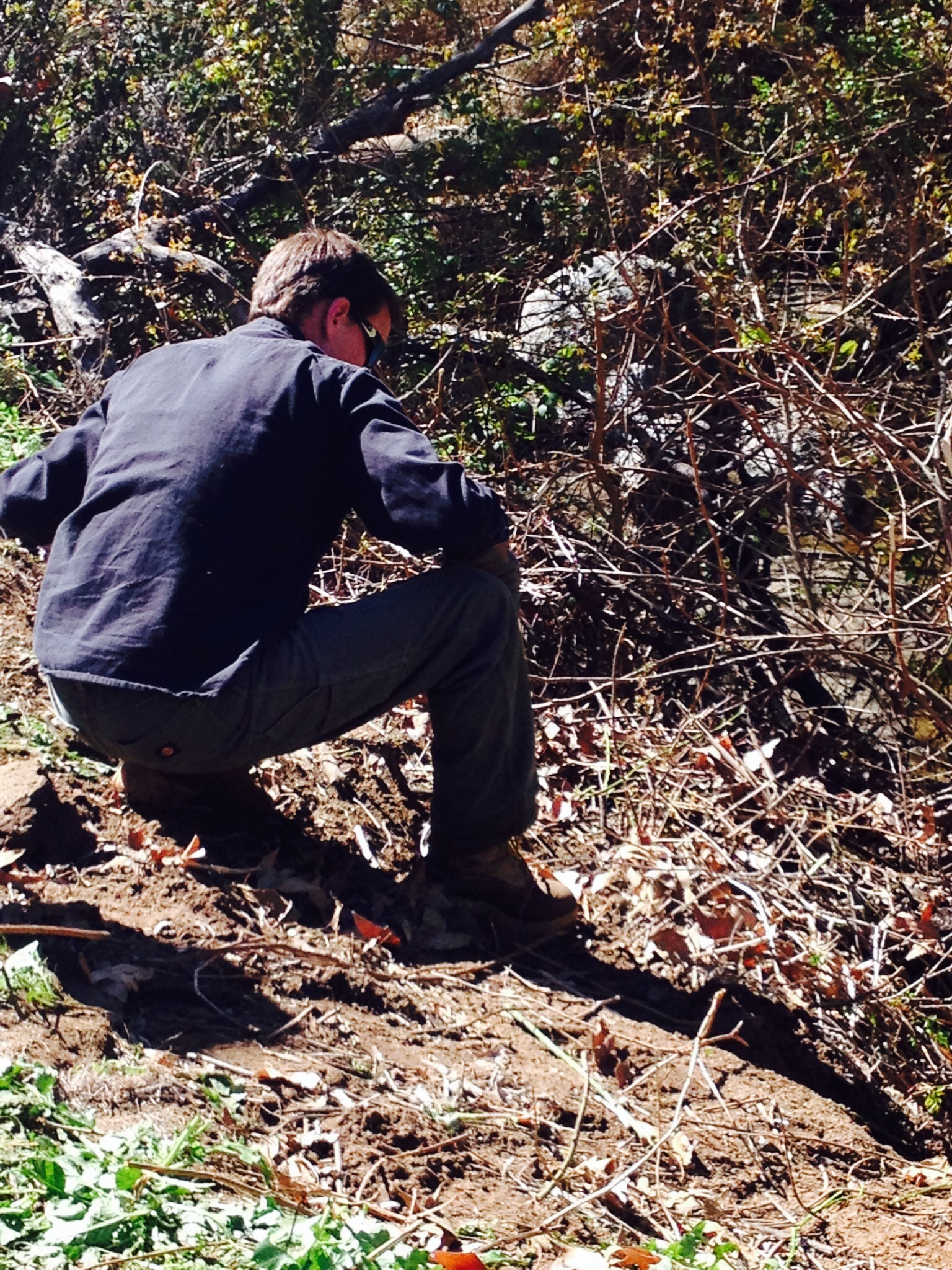 Here's Jon out at a cleanup site