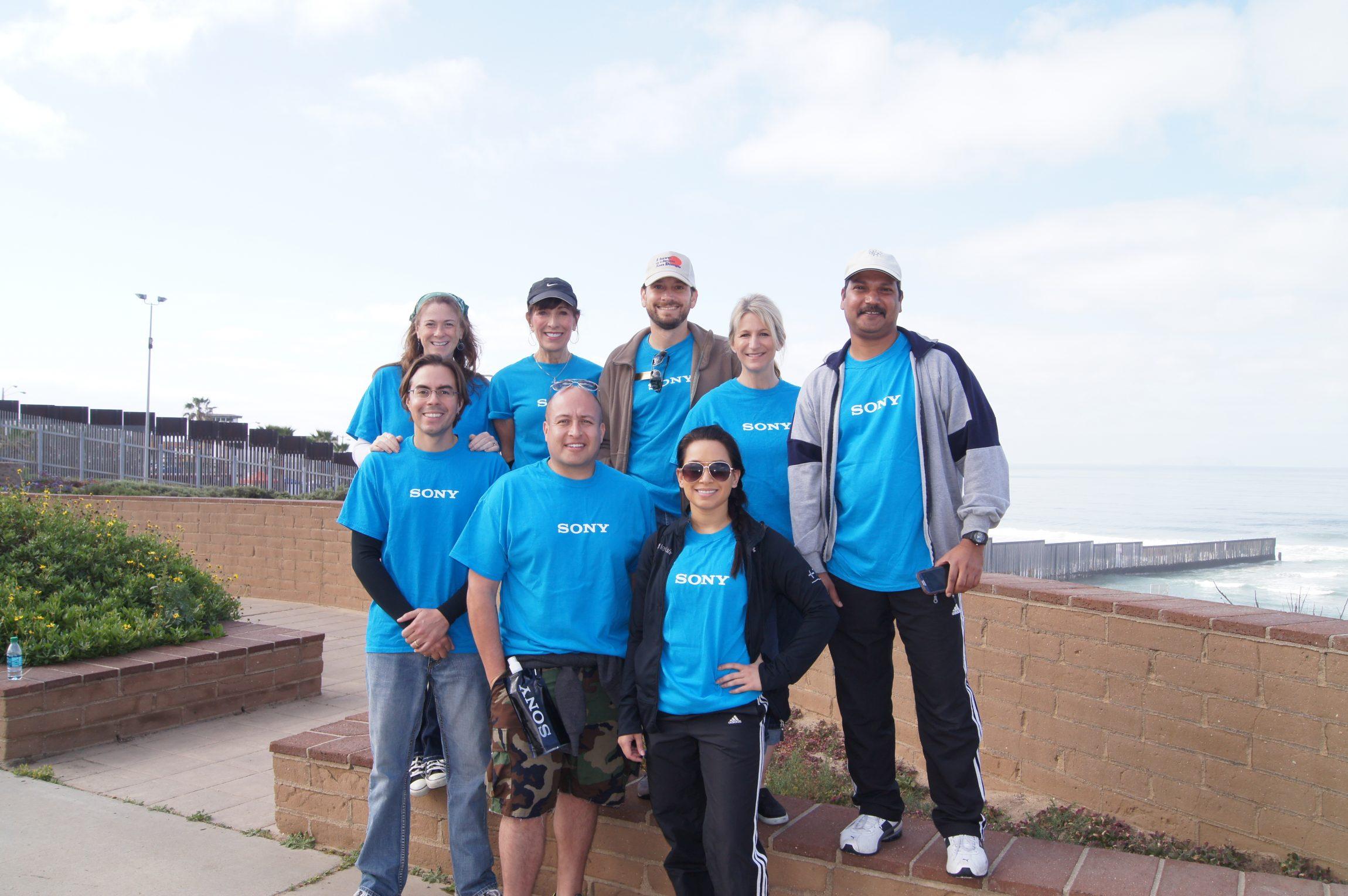 Sony employee volunteer group at Kids' Ocean Day 2015
