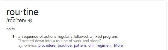 routine definition