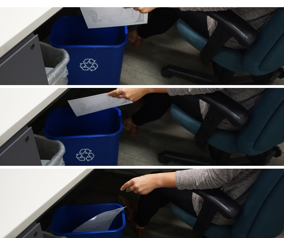 office recycling collage