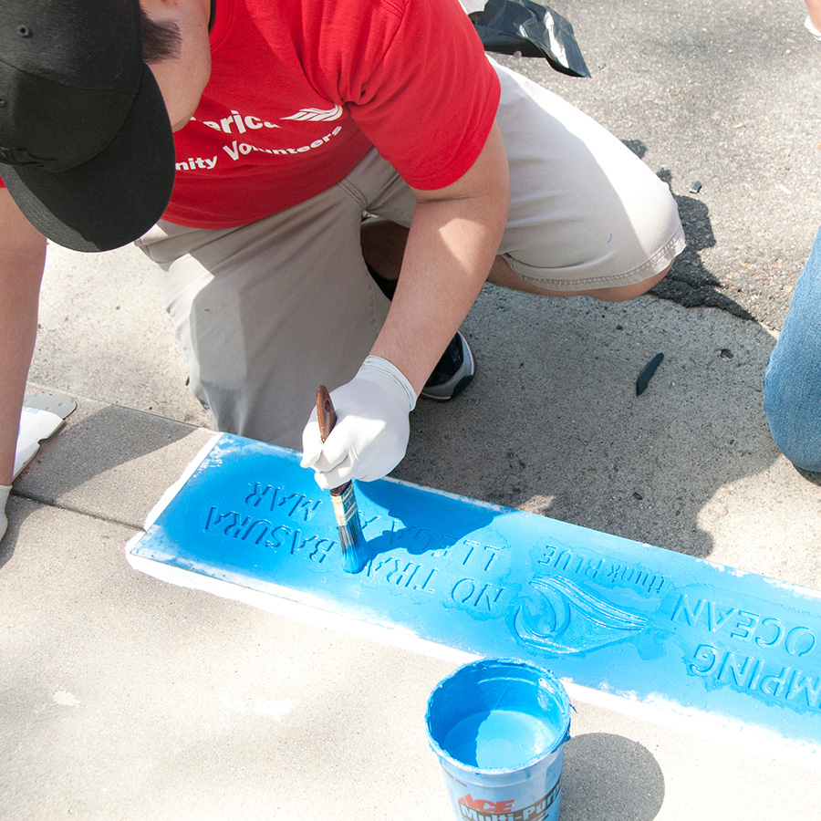 Storm Drain Stenciling