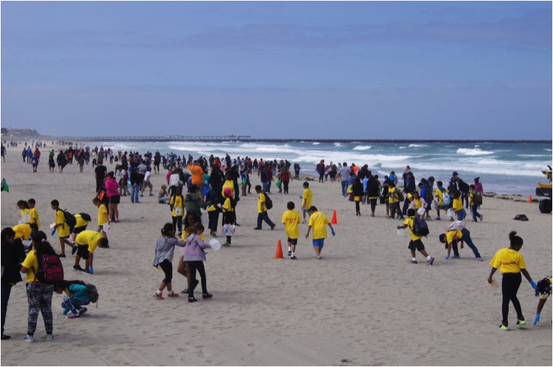 2016 kids ocean day volunteers at beach