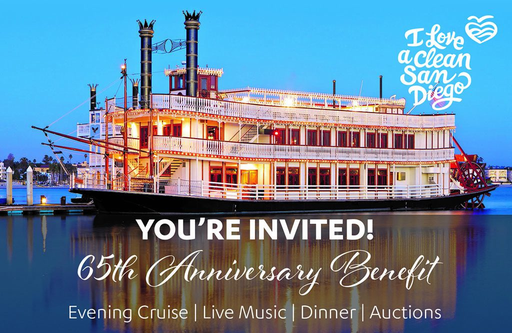 I Love A Clean San Diego 65th Anniversary Invite